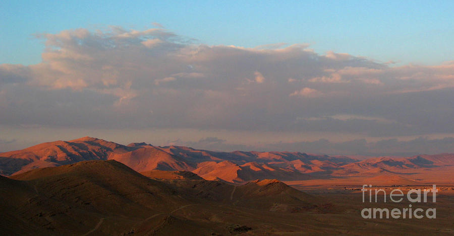 Sunset In The Syrian Desert Photograph