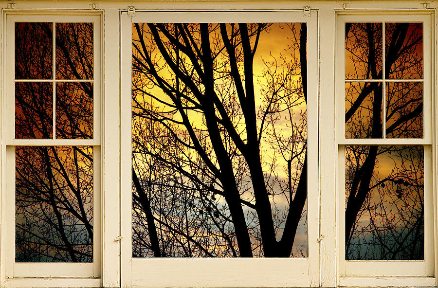 Sunset Into The Night Window View Photograph By James Bo