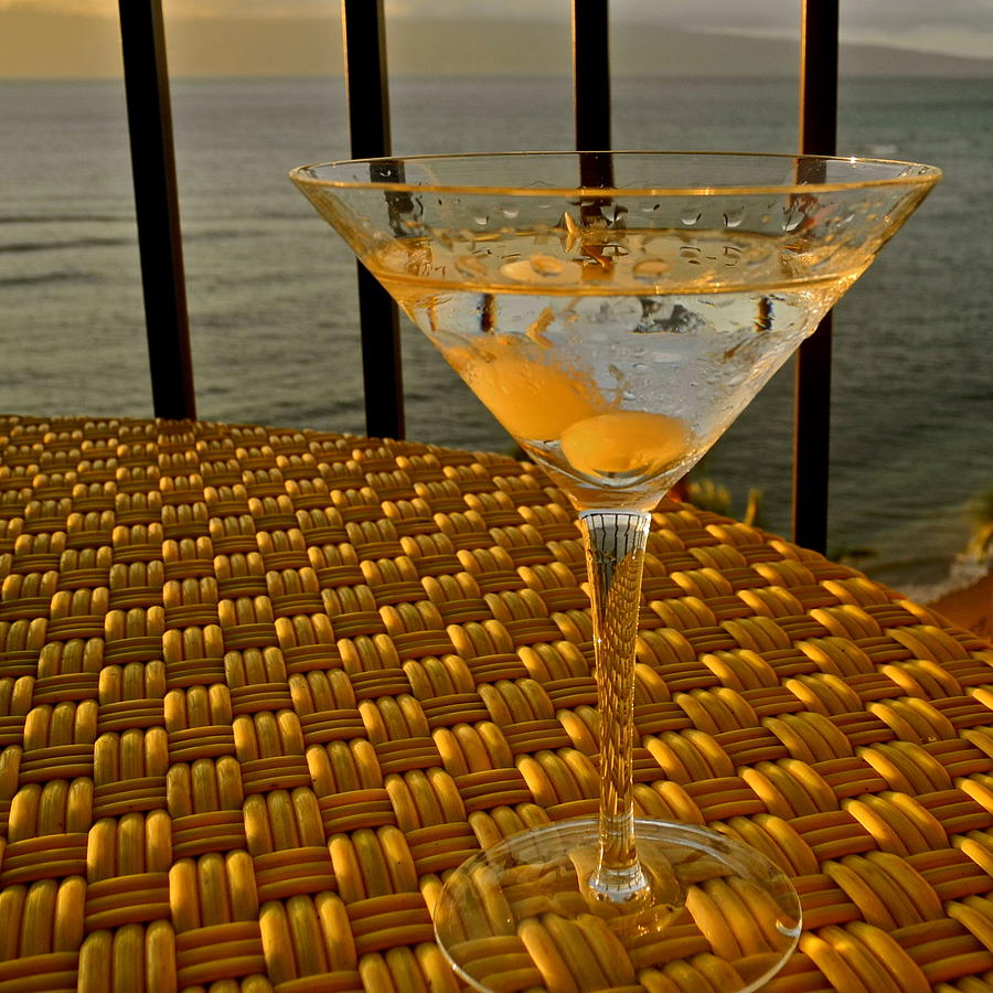 Sunset Martini In Maui I Photograph  - Sunset Martini In Maui I Fine Art Print