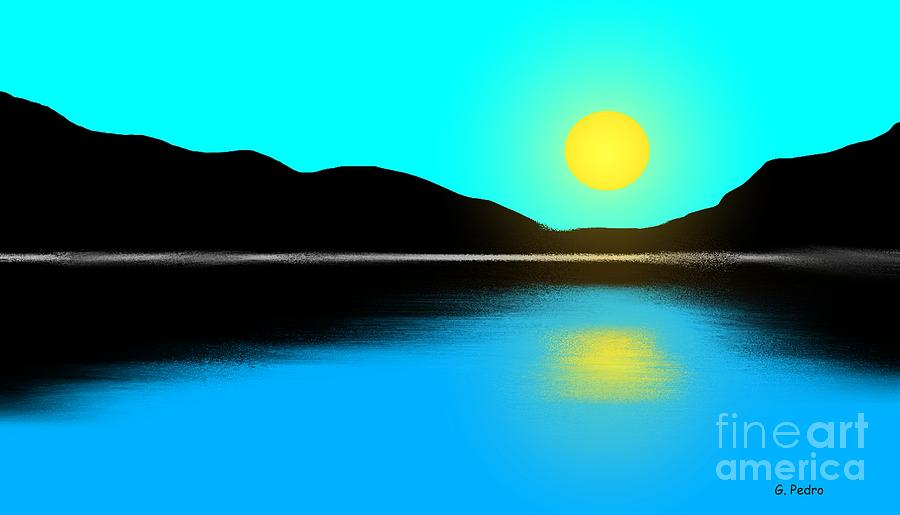 Sunset No. 2 Painting  - Sunset No. 2 Fine Art Print
