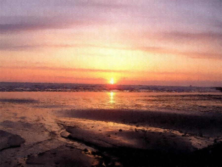 Sunset Oil Painting Look Photograph By Tammy Bullard