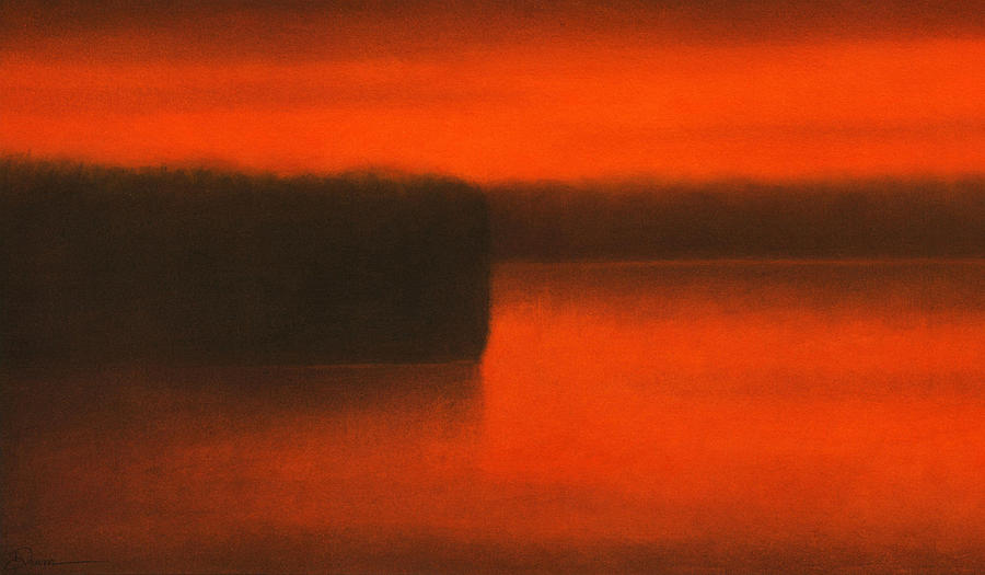 Sunset On A Nameless Lake Painting