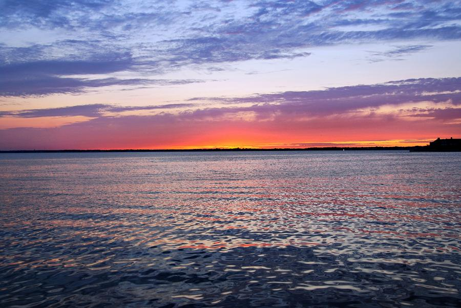Sunset On Barnegat Bay I - Jersey Shore Photograph