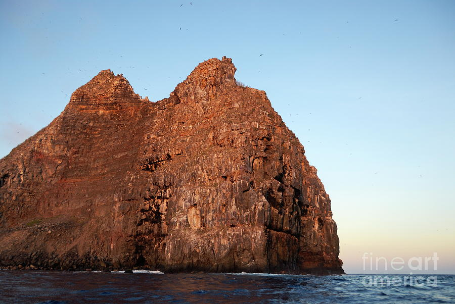 Sunset On Cliffs Of Wolf Island Photograph