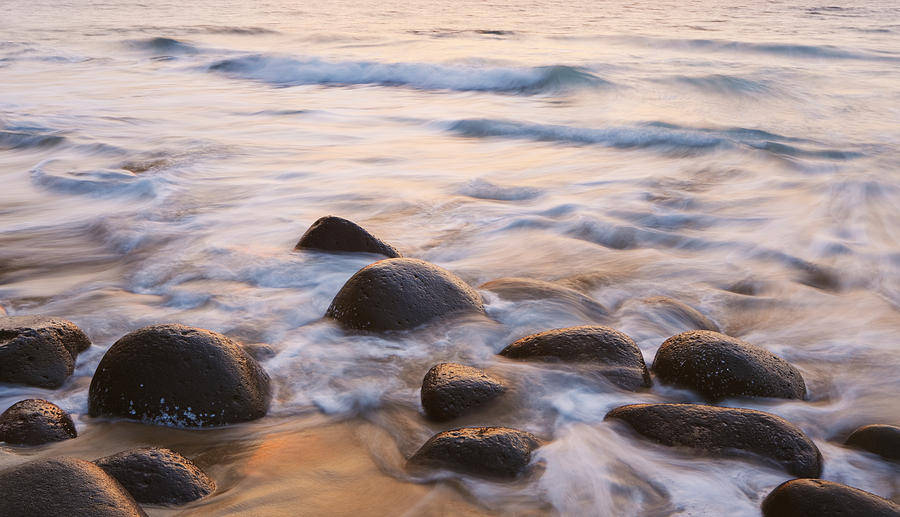 Sunset On Ocean And Rocks Photograph  - Sunset On Ocean And Rocks Fine Art Print