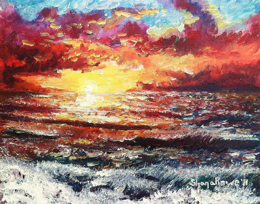 Sunset On Red Sea Painting  - Sunset On Red Sea Fine Art Print