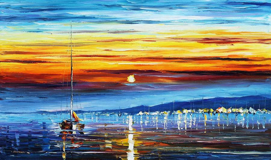 Sunset Over California Painting  - Sunset Over California Fine Art Print