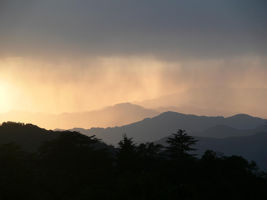 Sunset Over Chakrata Hills - 2 Photograph