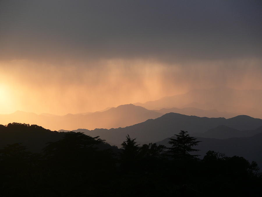Sunset Over Chakrata Hills Photograph