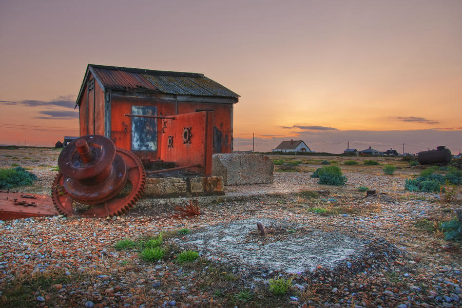 Sunset Over Dungeness Digital Art