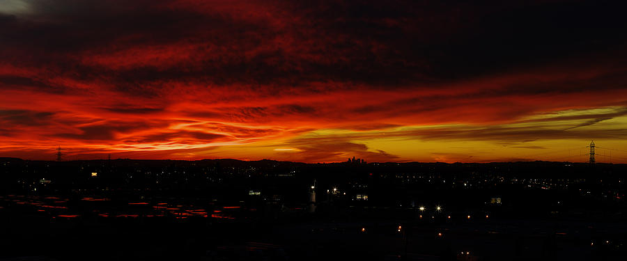 Sunset Over L.a. Photograph  - Sunset Over L.a. Fine Art Print