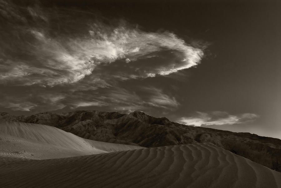 Sunset Over Sand Dunes Death Valley Photograph