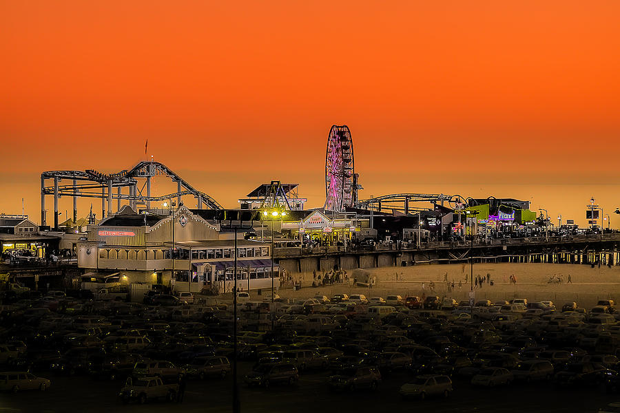Sunset Over Santa Monica Pier Photograph  - Sunset Over Santa Monica Pier Fine Art Print