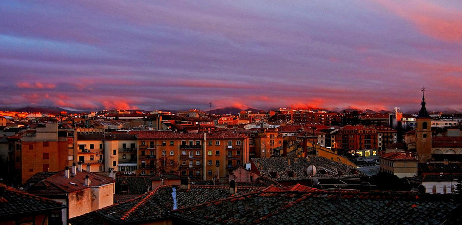 Europe Photograph - Sunset Over Segovia ... by Juergen Weiss