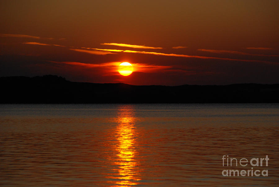 Sunset Over Silver Lake Sand Dunes Photograph