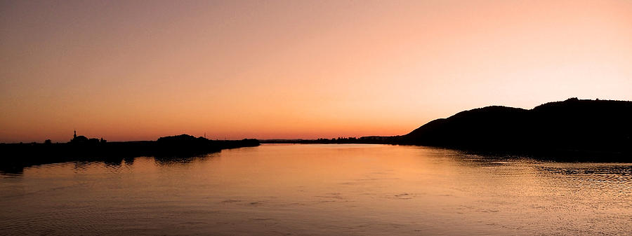 Europe Photograph - Sunset Over The Danube ... by Juergen Weiss