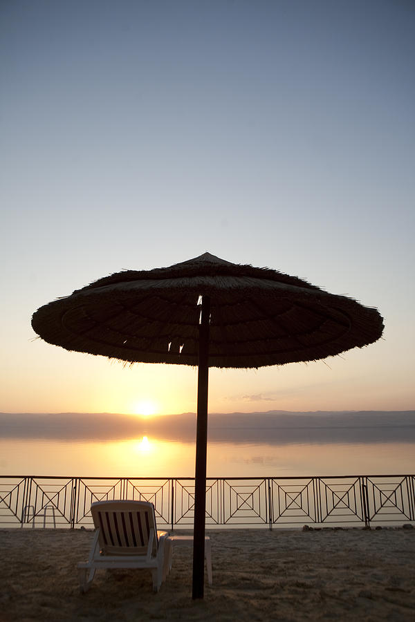 Sunset Over The Dead Sea Photograph