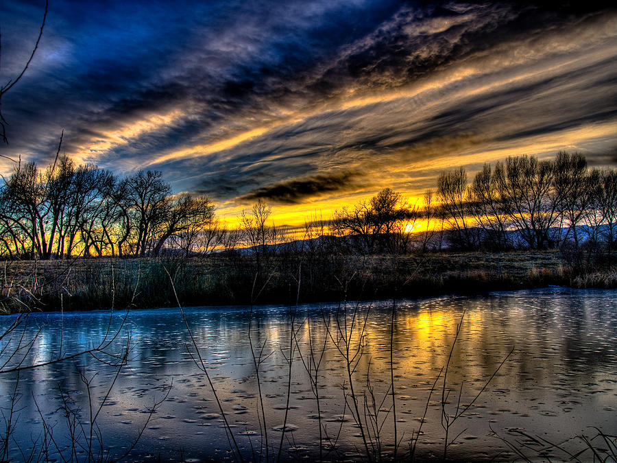 Sunset Over The Front Range Photograph