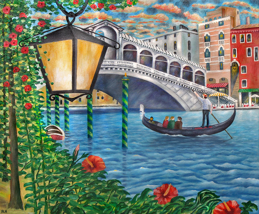 Sunset Over The Grand Canal Painting