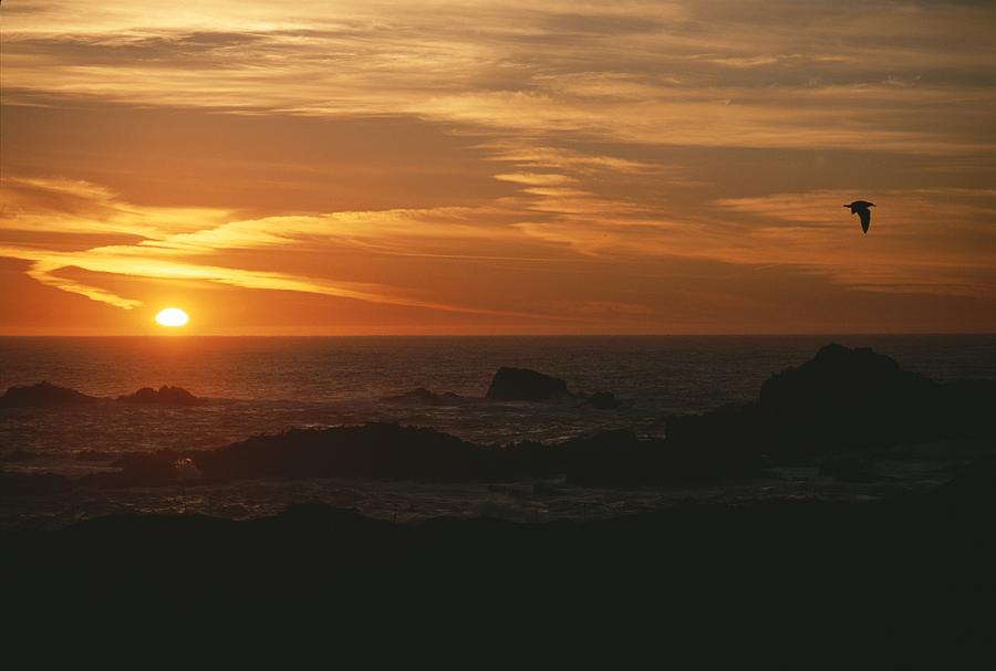 Sunset Over The Pacific Ocean Photograph  - Sunset Over The Pacific Ocean Fine Art Print