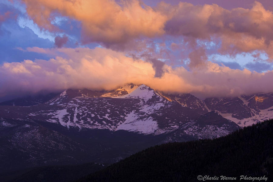 Sunset Over The Rockies Photograph