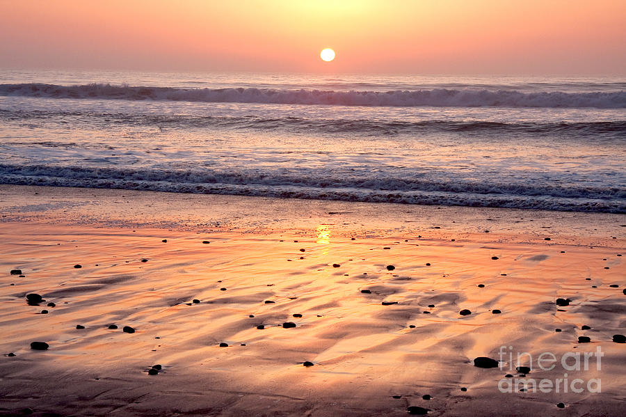 Sunset Over Torrey Pines Beach La Jolla California Photograph  - Sunset Over Torrey Pines Beach La Jolla California Fine Art Print