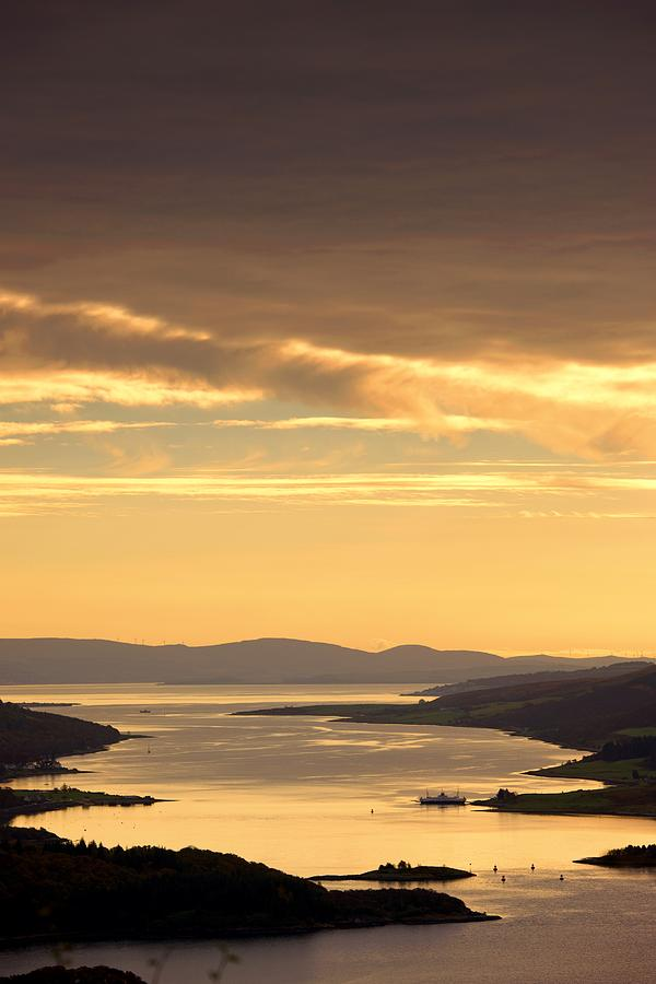 Atmosphere Photograph - Sunset Over Water, Argyll And Bute by John Short