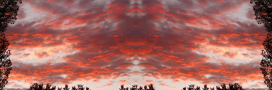 Sunset Panorama Psychedelic Trance Photograph