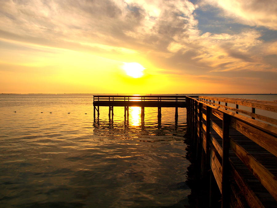 Sunset Pier Destin Photograph  - Sunset Pier Destin Fine Art Print