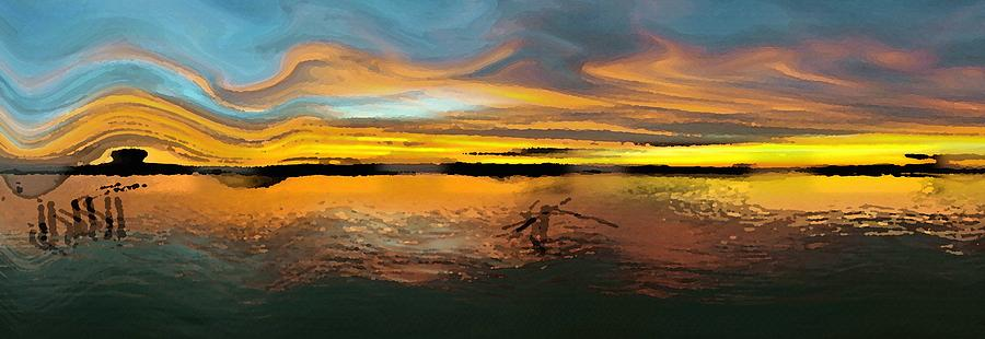 Sunset Digital Art  - Sunset Fine Art Print