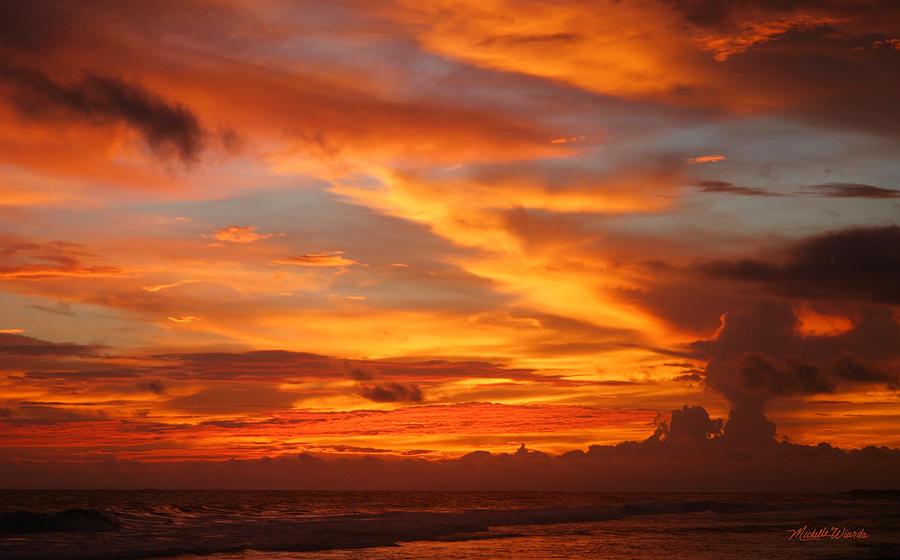 Sunset Photograph - Sunset Playa Hermosa Costa Rica by Michelle Wiarda