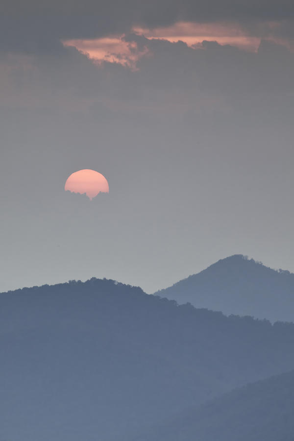 Sunset Repition - Blue Ridge Parkway Sunset Scene Photograph