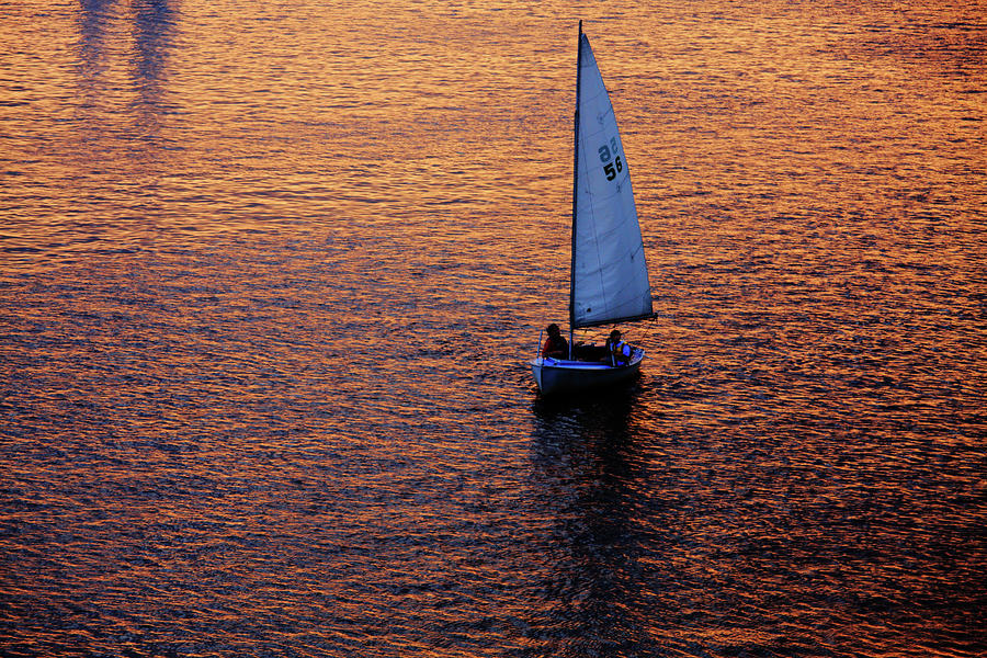Sunset Sailing Photograph  - Sunset Sailing Fine Art Print