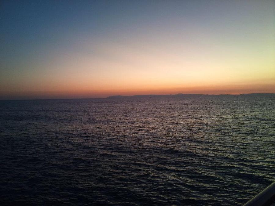 Sunset Santa Monica Beach Photograph