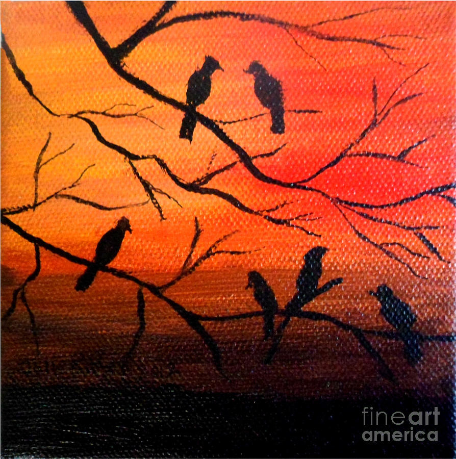 Sunset Secrets Painting By Julie Brugh Riffey