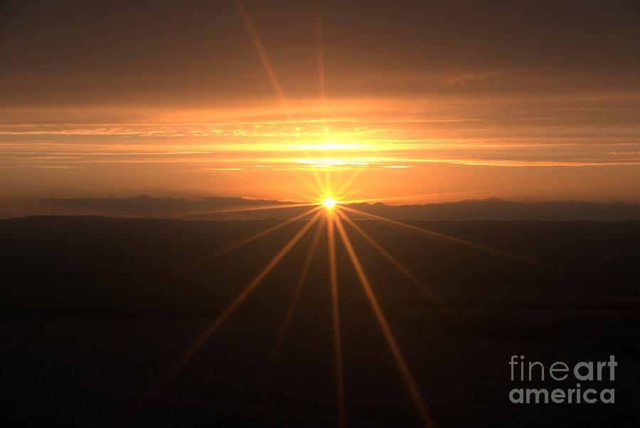 Sunset Star Photograph  - Sunset Star Fine Art Print