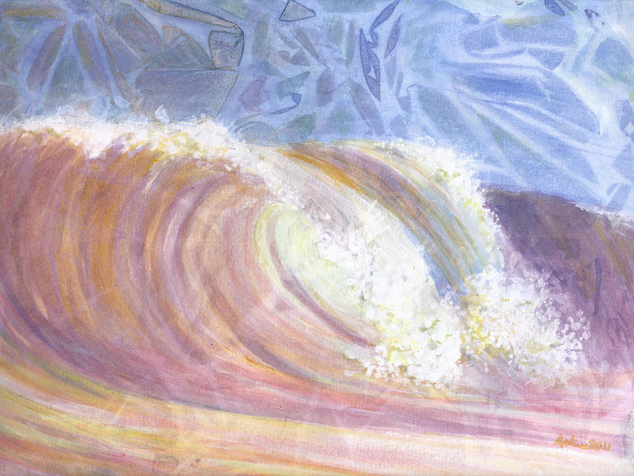 Sunset Surf Painting  - Sunset Surf Fine Art Print