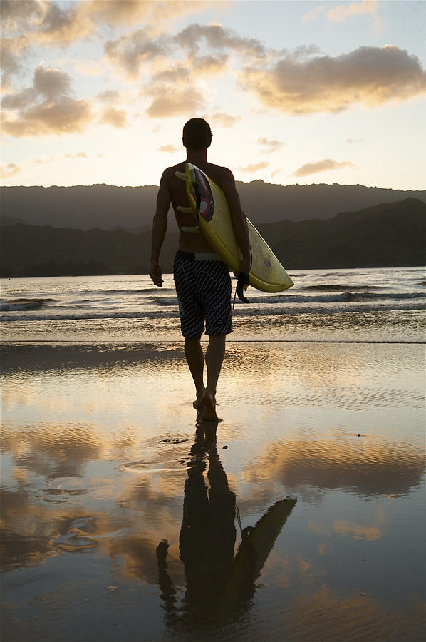 Sunset Surfer Photograph