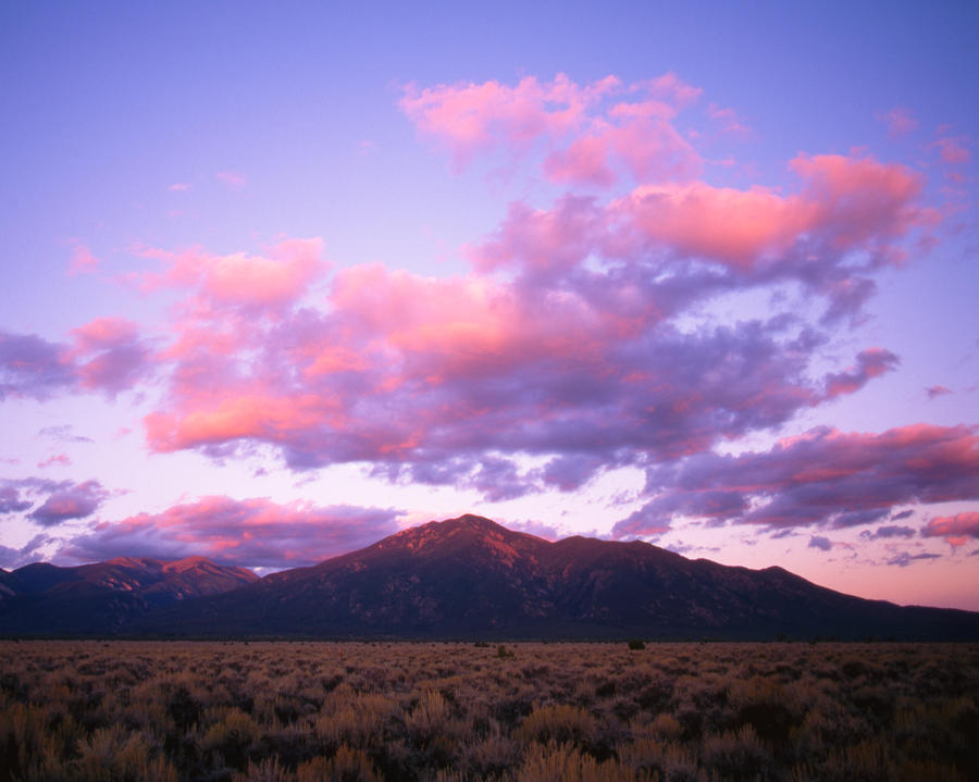 Sunset Taos Mountain Nm Photograph  - Sunset Taos Mountain Nm Fine Art Print