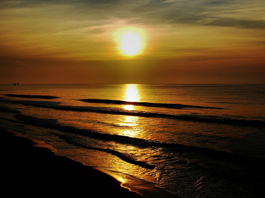Sunset Waves Photograph
