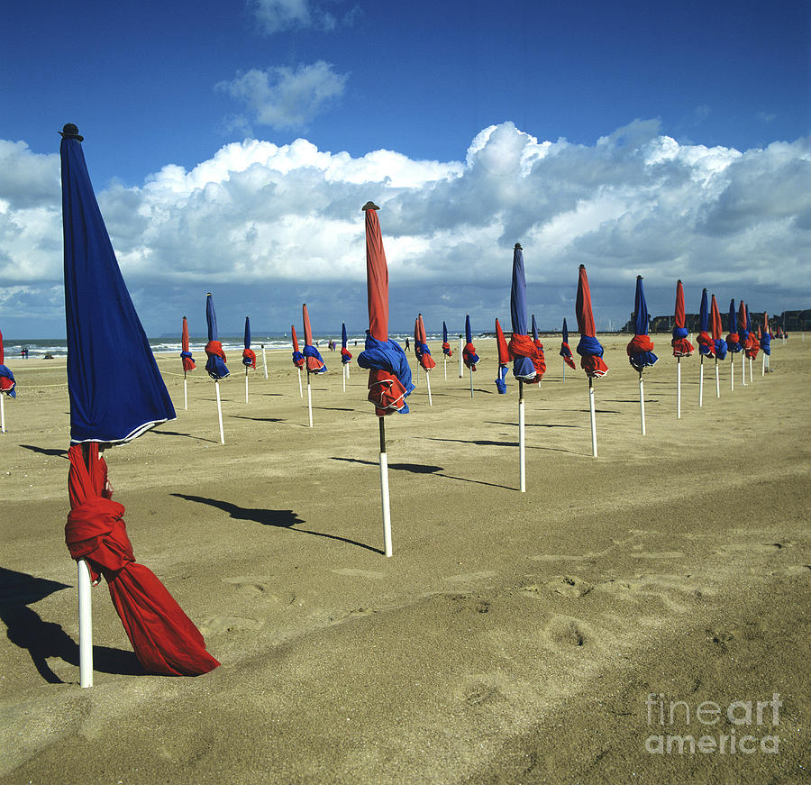 Sunshade On The Beach. Deauville. Normandy Photograph