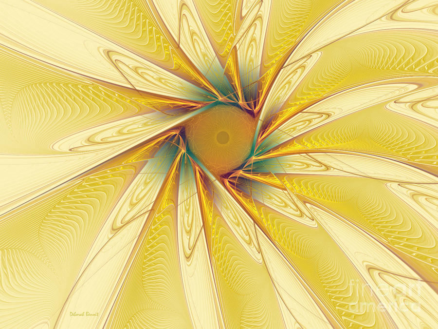 Sunshine Flower Digital Art  - Sunshine Flower Fine Art Print