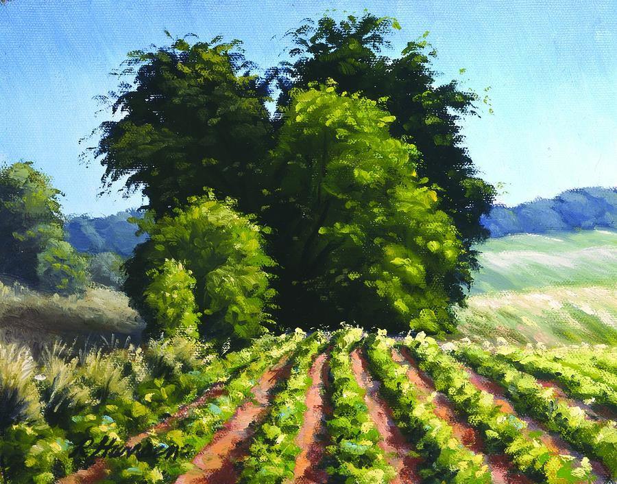 Sunshine On The Beanfield Painting  - Sunshine On The Beanfield Fine Art Print