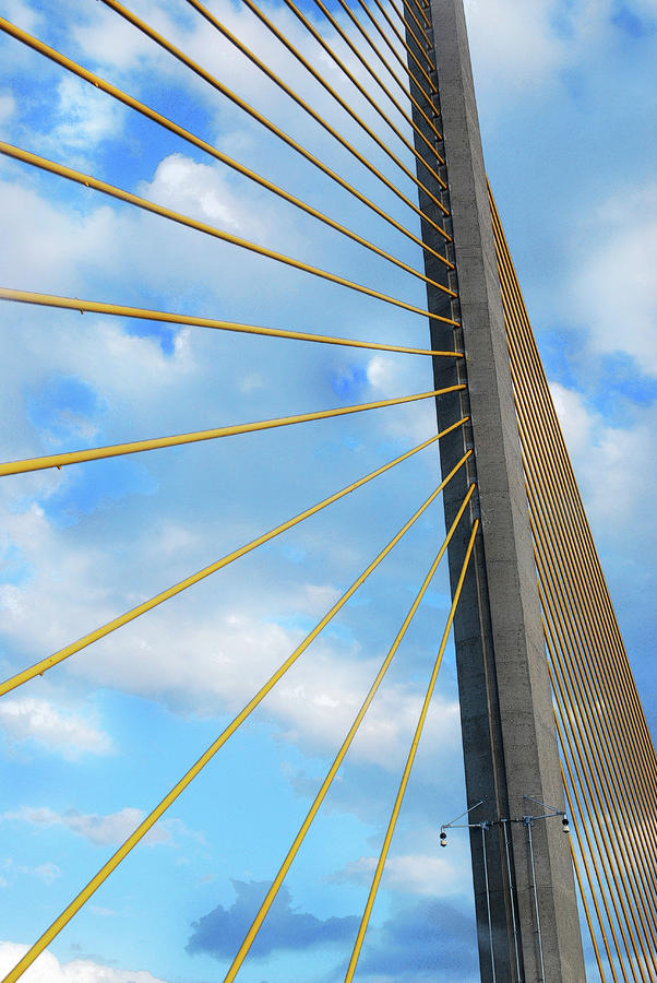 Sunshine Skyway Bridge Angle Photograph  - Sunshine Skyway Bridge Angle Fine Art Print