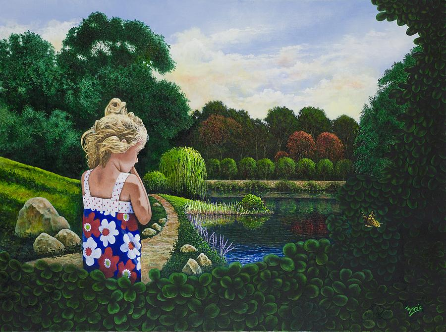 Girl Painting - Sunshine Travelers by Michael Frank