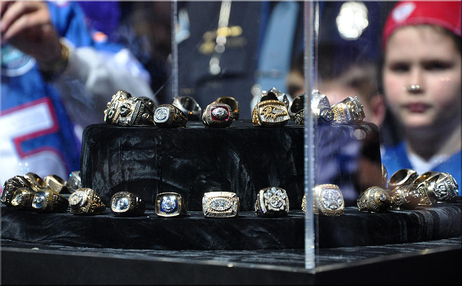 Super Bowl Rings Photograph