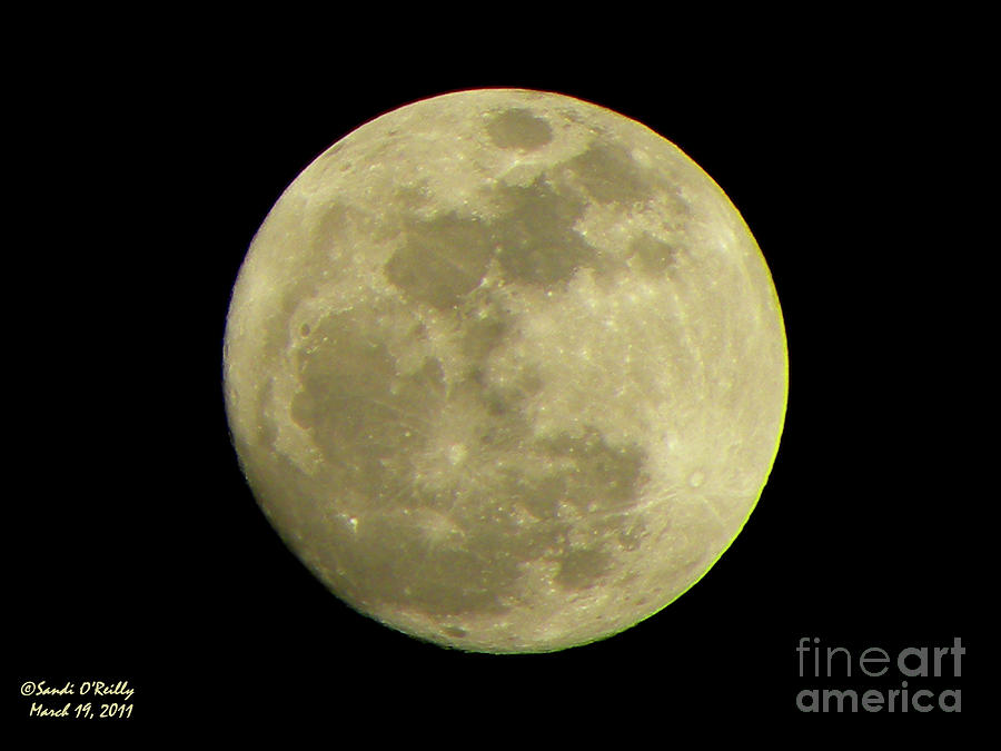 Super Moon March 19 2011 Photograph