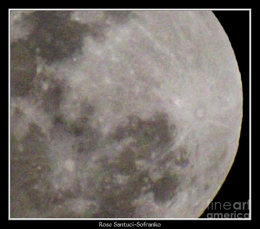 Super Moon Right Side Photograph  - Super Moon Right Side Fine Art Print
