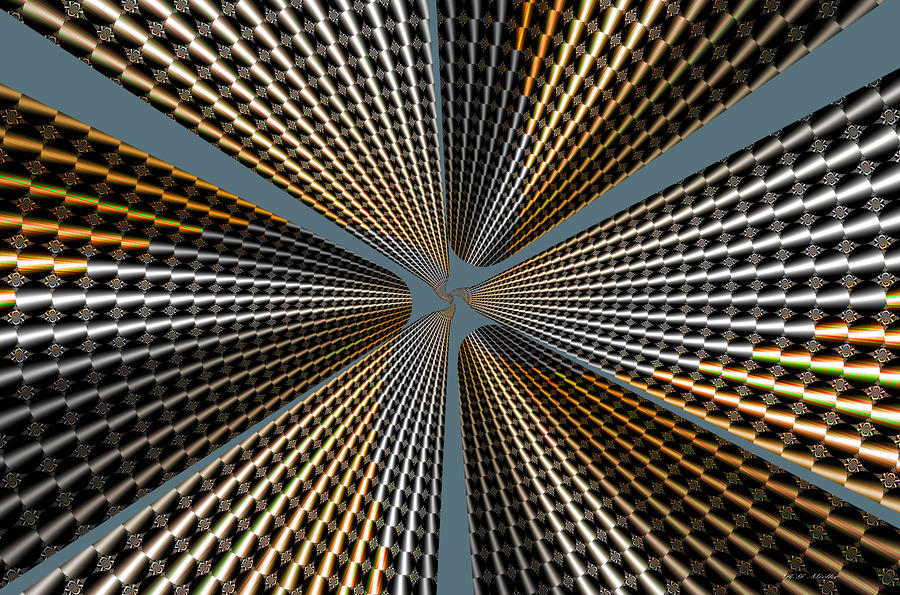 Super Skyscraper Abstract Digital Art  - Super Skyscraper Abstract Fine Art Print