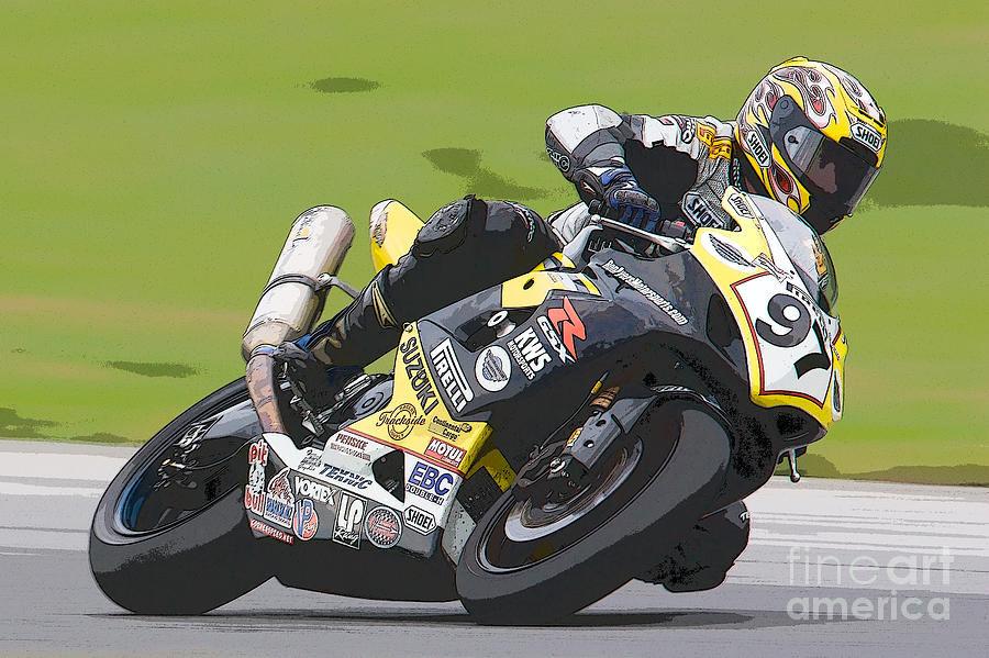 Clarence Holmes Photograph - Superbike Racer II by Clarence Holmes